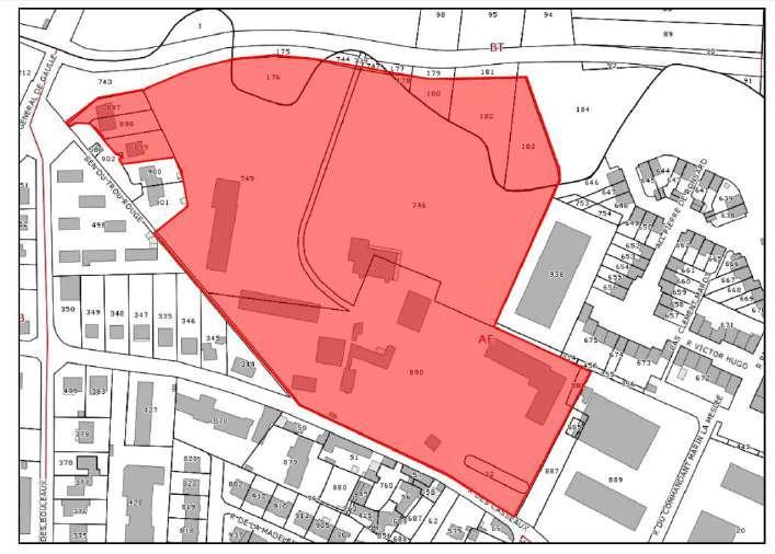 Zone incluse dans la périmètre de la convention avec l'EPFIF