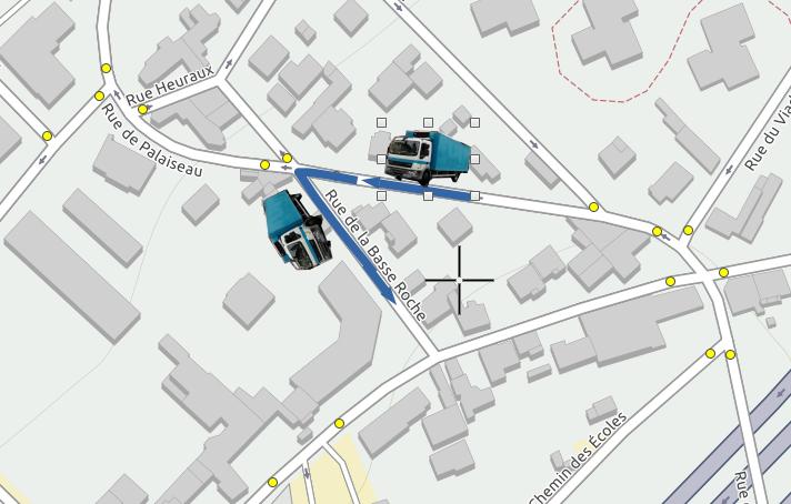 Test de circulation par la rue de la Basse Roche